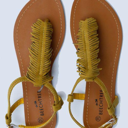 Fringe-Cut Sandals