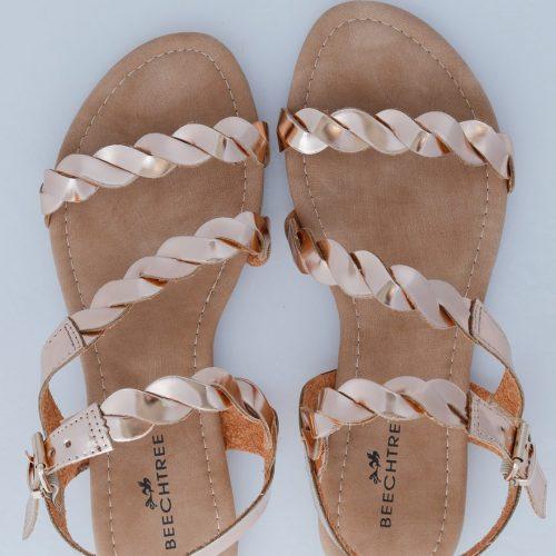Twist Sandals Gold