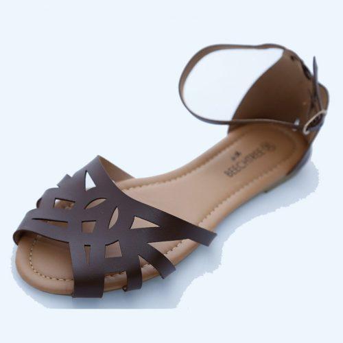 Toe Sandals Brown