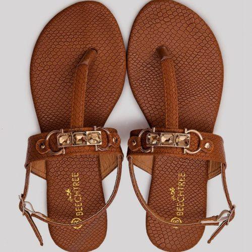 Textured Sandals Brown
