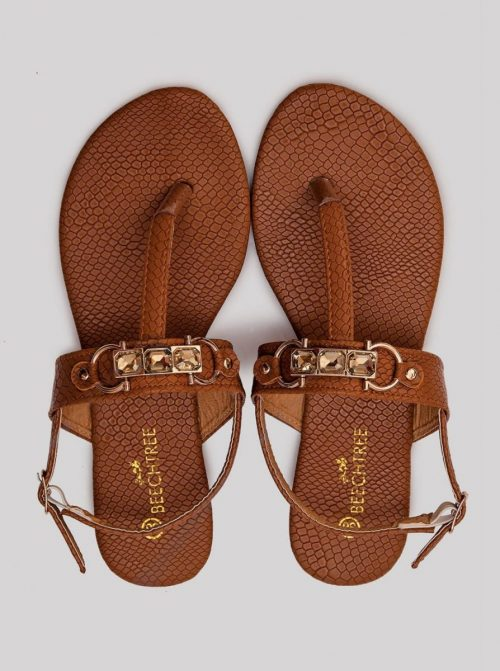Textured Sandals Brown