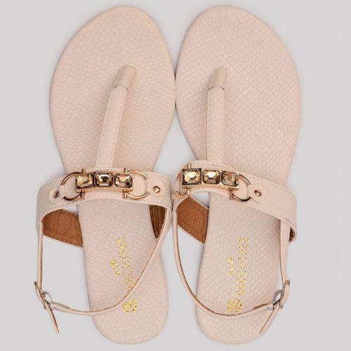 Textured Sandals White