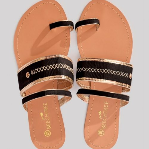Leather Sandal Black