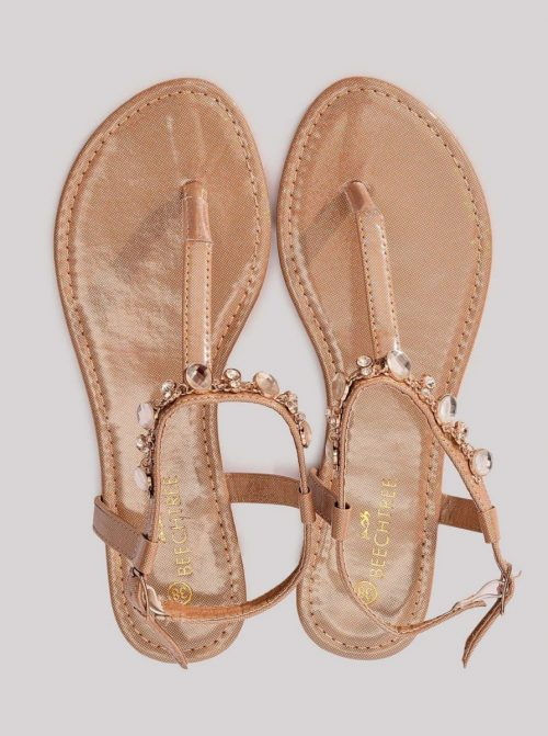 Metallic Sandals Brown