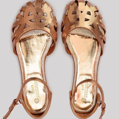 Metallic Sandals Gold