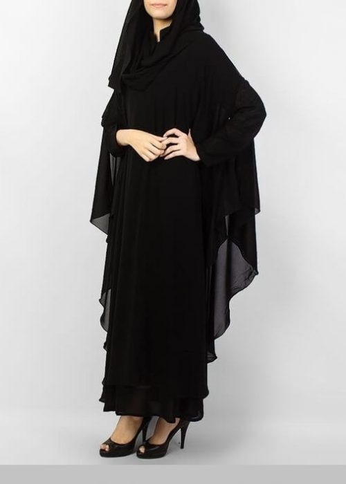 Beautiful Black Simple Abaya Pakistani Style in Islamabad