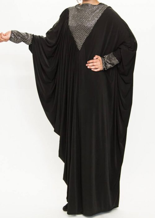 Beautiful abaya design V-Neck style with wings in Pakistan
