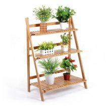 wooden ladder plant stand garden balcony outdoor and indoor