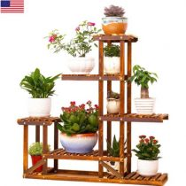 outdoor wooden plant stands