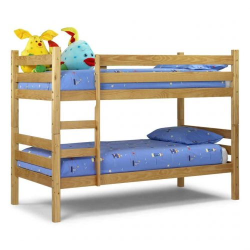 Wooden double story bed for kids