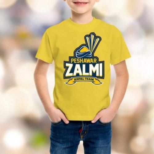 peshawar zalmi t-shirt price yolk color in different size in Pakistan