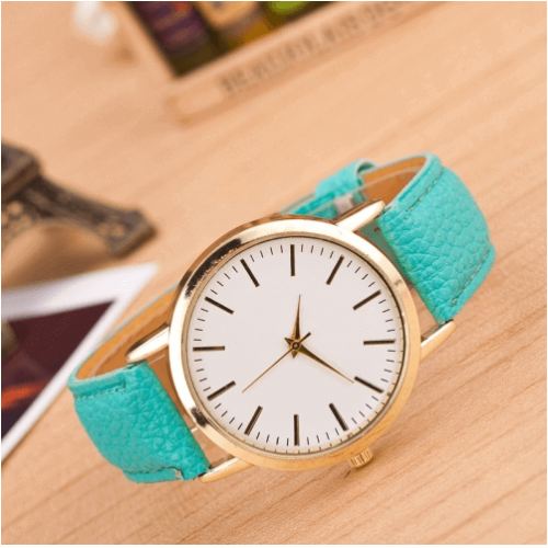 Mint Green Fashion Marble And Gold Belt Watches in Pakistan