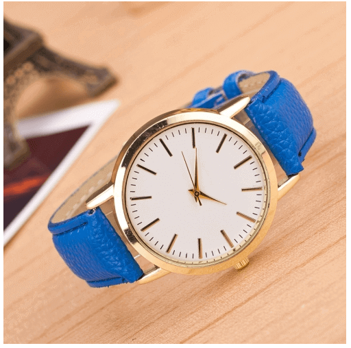 Blue Fashion Marble And Gold Belt Watches in Pakistan