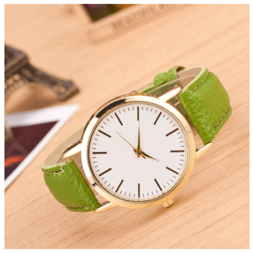 Green Fashion Marble And Gold Belt Watches in Pakistan