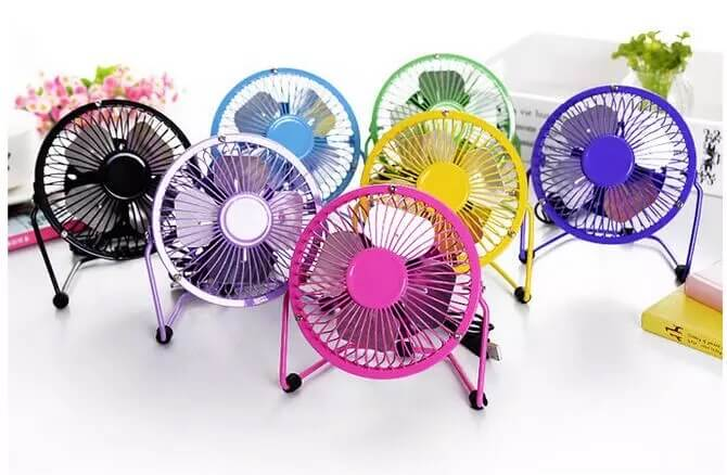usb mini fan new steel body in black colors 5 V in pakistan