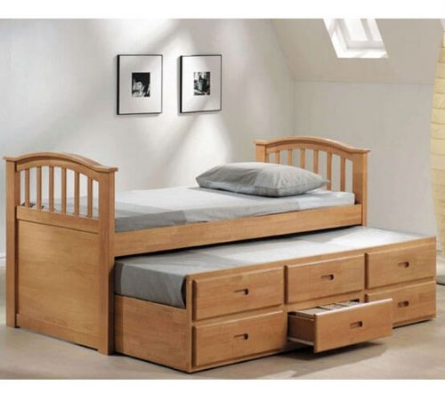 bed design in Pakistan for multi purpose use bedroom furniture