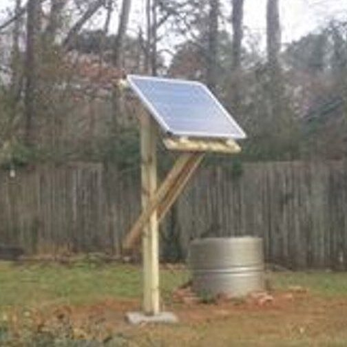 tower type solar plat wood stand at safe distance in Pakistan