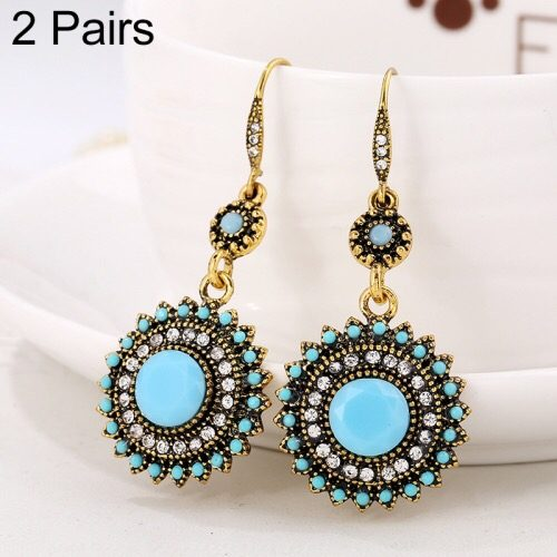 Earring set beautiful jewelry sun flower design of rhinestone in Pakistan