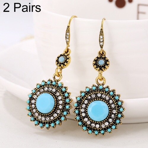 Earring set beautiful jewelry sun flower design of rhinestone in Pakistan