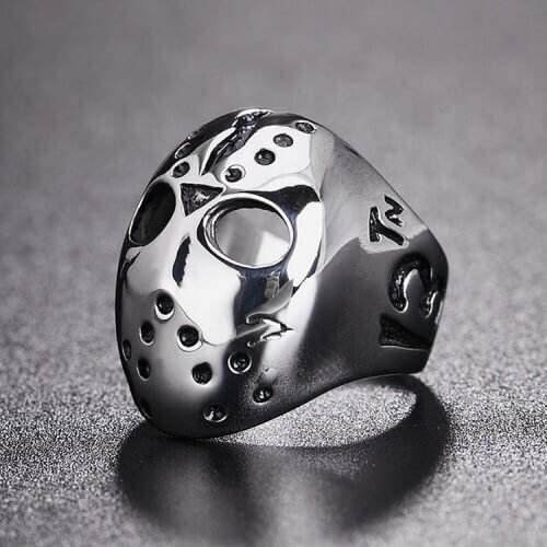 Unique Titanium Steel Ring Rock Must Skull Design for men in Pakistan