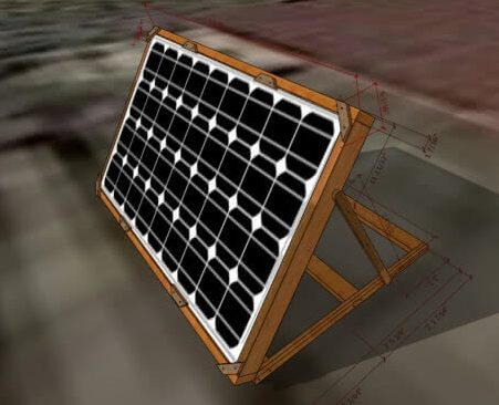 solar plat wooden stand safe and portable with corner clips in Pakistan