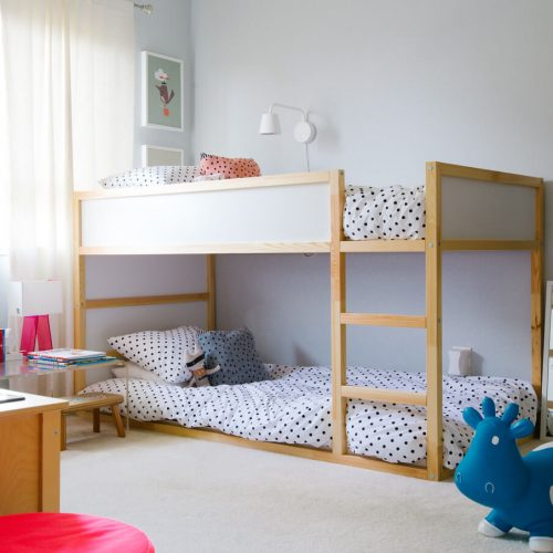 Kids best wooden bed safe child less heights in Pakistan