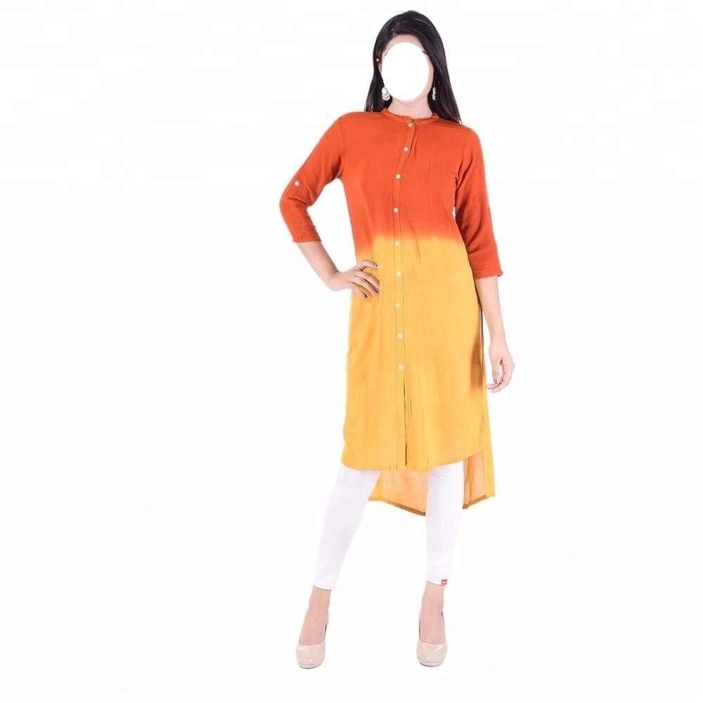 latest design female kurti red and yellow best dress for female in Pakistan