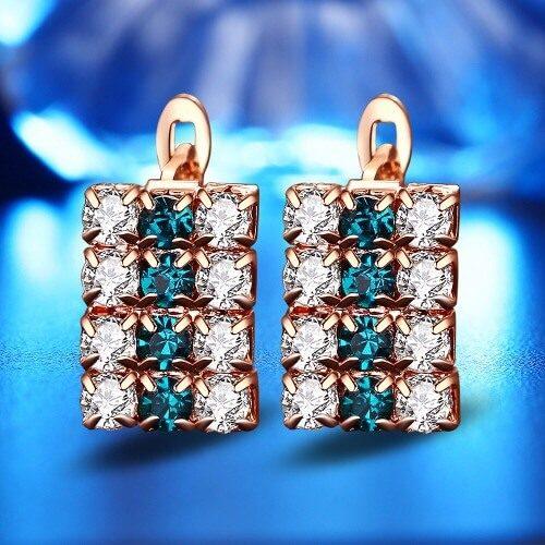 Crystal Stud Earring For Women, 16*9 mm in Pakistan