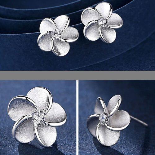 flower shape mini diamond fixed small earring studs in Pakistan