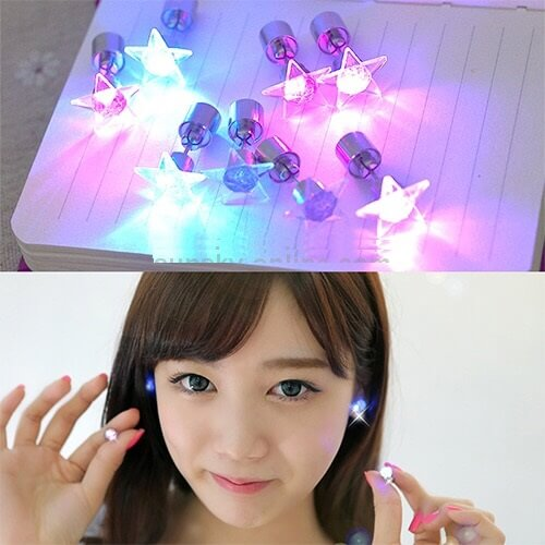 LED lighting Earring Studs Fashion in Pakistan