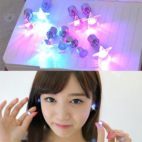 LED lighting Earring Studs Fashion in Pakistan