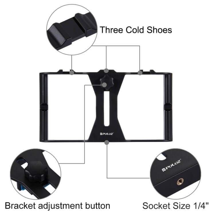 LED Selfie Light Smartphone Video Rig Kits with Microphone + Tripod Mount + Cold Shoe Tripod Head in Pakistan
