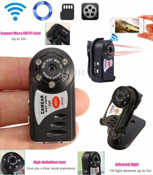 Q7 wifi mini spy camera wireless and infrared supported in Pakistan