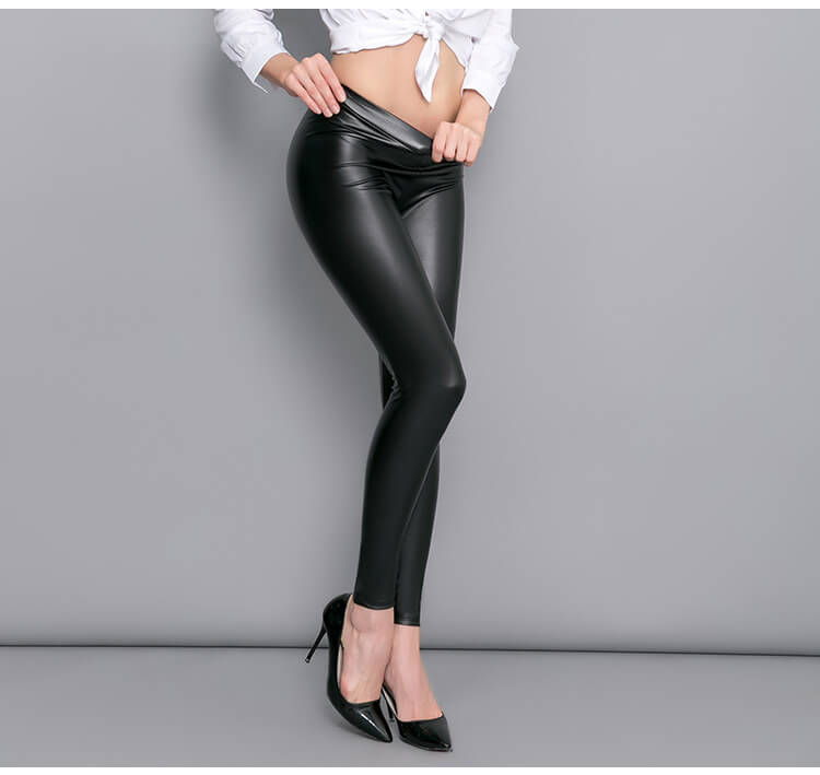 Sexy legging tights for women black shine in Pakistan