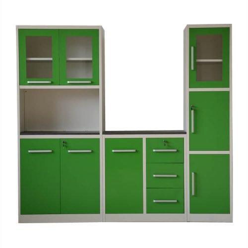 Kitchen cabin design 2019 green in Pakistan