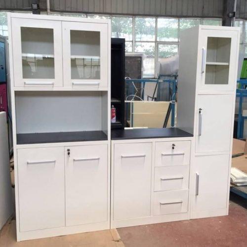 Kitchen white cabin design 2019 in Pakistan