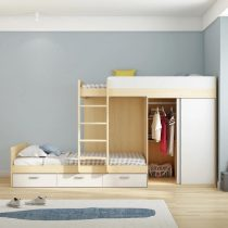 double story bed with wardrobe in Pakistan