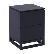 Black side table for decent bedroom look
