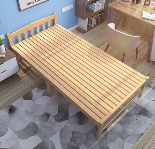 Folding Bed Single Solid Wood in Pakistan