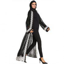 Elegant Muslim Women's Cotton Cardigan