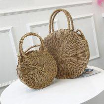 Rustic Bohemian Straw Handbag – B