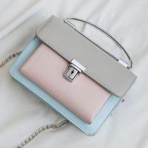 Women's Geometric Style Pastel Color Shoulder Bag