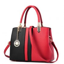 Two-Tone Tote Shoulder Bag
