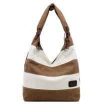 Smart Chic Striped Canvas Tote Bag