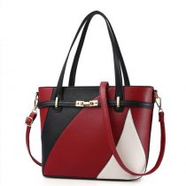 Women's Geometric Patchwork Leather Shoulder Bag
