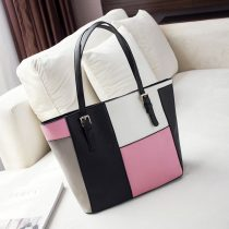 Women's Colorful Leather Tote Bag