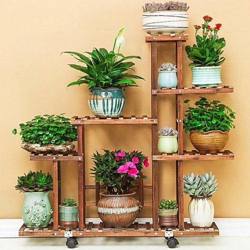 Wooden Plant Stand Indoor in Pakistan