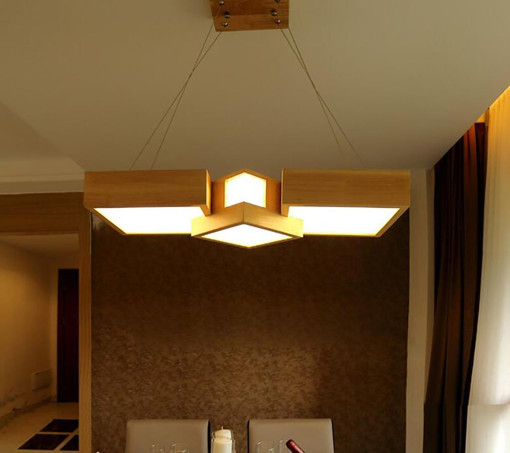 Chandeliers LED bar lamp Wood Dining Table in Pakistan