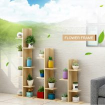 Wooden Plant Shelves Multi-layer Plant Stand