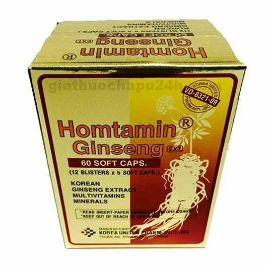 Homtamin Ginseng Multivitamin Capsule in Pakistan